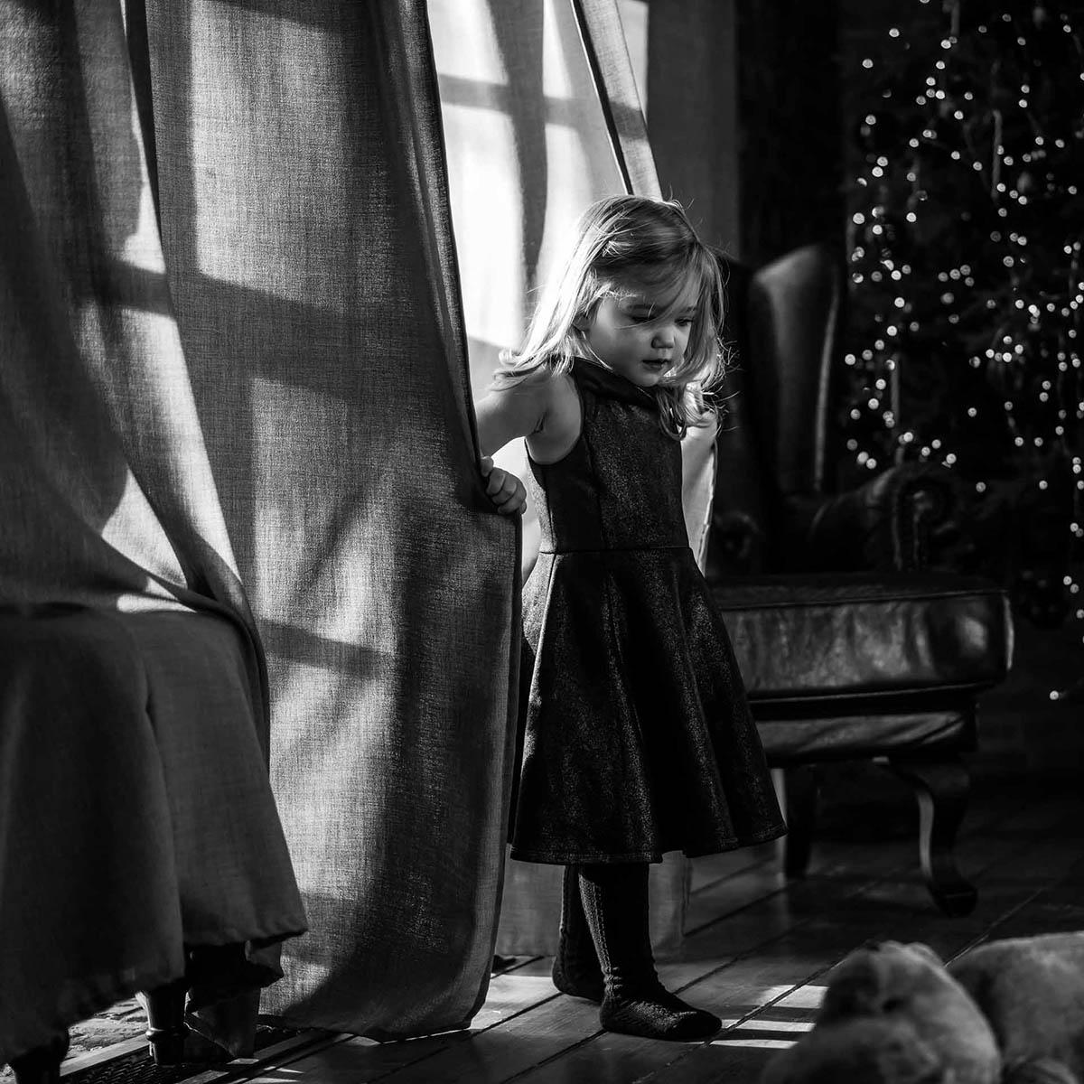 karácsonyi fotózás fekete-fehér