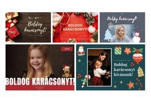 karácsonyi képeslap - canva